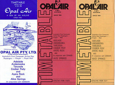 Opal Air Airline Timetable