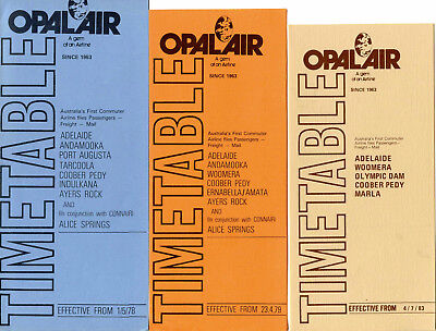 Opal Air Airline Timetables