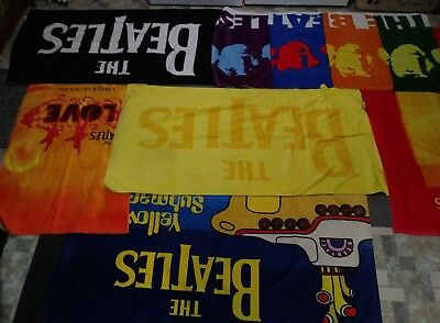 Brand NEW Set of 6 Licensed The Beatles 5ft beach towels Great Gifts! 6 pc Set