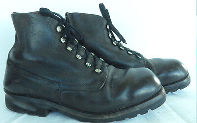Rarity very big finest orginal vintage Swiss Army leather shoes sice 44 Europa