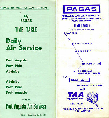 Pagas Airlines Australia Timetables