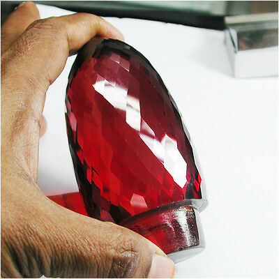 Huge!3587.20ct Sparkling Cubic Zirconia Pigeon Blood Red Ruby Fancy Cut Gem