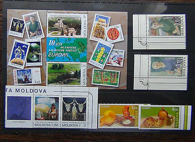Moldova 1993 1996 2005 Europa sets 2003 Europa Miniature Sheet MNH