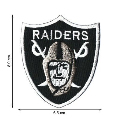 NFL Football Oakland Raiders Team Logo V01 Embroidered Iron on Patch Sew