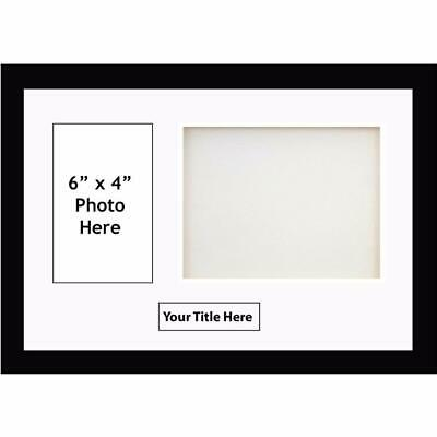 """3d deep box frame for baby cast photo with title size 6"""" x 4"""" inch 