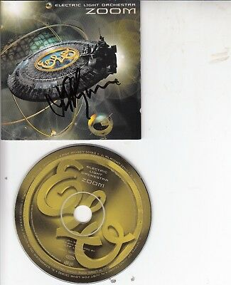 Jeff Lynne Hand Signed Elo Zoom Cd Not A Print