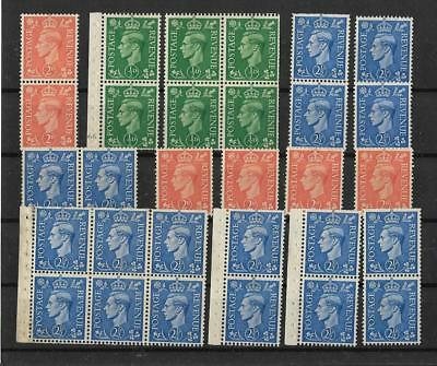 Great Britain KGVI 1941-42 Lighter Background Unused No Gum from Booklet