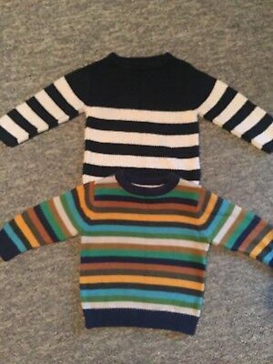 2 Baby Boys Next Jumpers 9-12 Months
