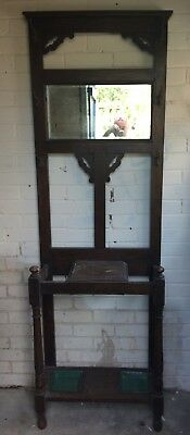 Late Victorian/Early Edwardian Oak Hall Stand provision for Hats Coats & Sticks