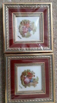 Limoges Picture In Gold and red frame brand new