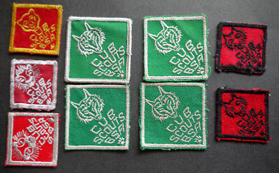 badge boy scouts patch 9 cub scouts green/white - red/white red/black