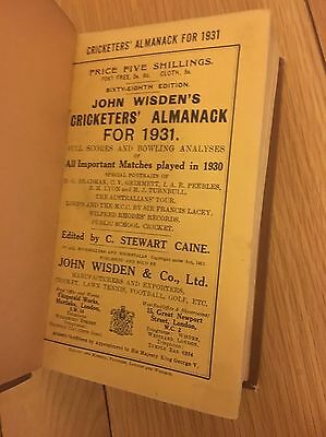 Rare 1931 Wisden Cricketers Almanack