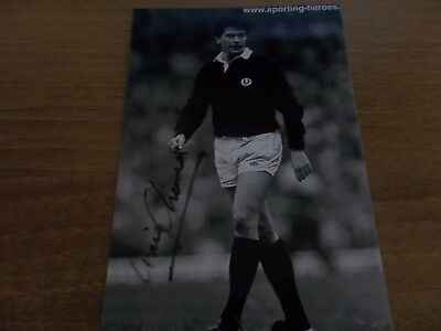 Roger Baird, Scotland Rugby Player, Signed 6 X 4 Photo