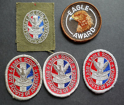 badge boy scouts patch 5 Eagle scout  all different