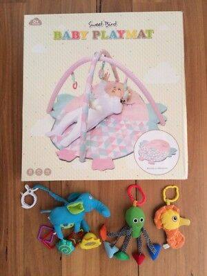 SWEET BIRD - Baby PLAYMAT / Activity Gym + BONUS 3 TOYS