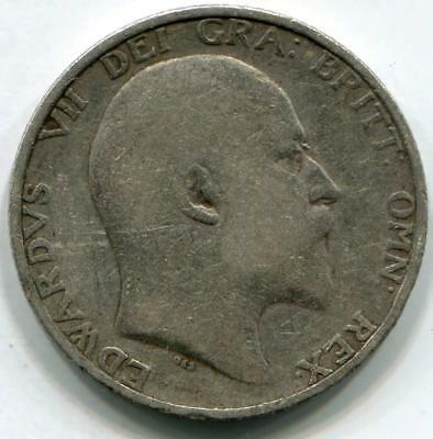 1906 Solid Sterling Silver Vintage Shilling King Edward VII Great Britain UK