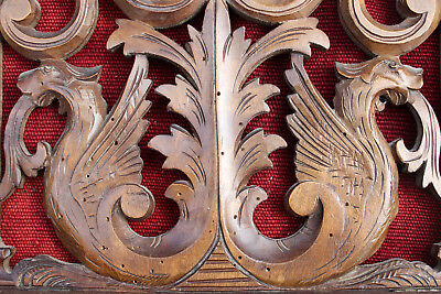FRENCH SHELF CARVED WOOD DRAGON CA 1880 black forest