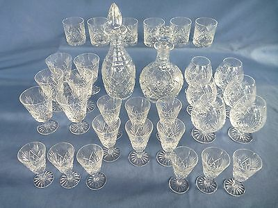 Webb Corbett Crystal 32 pc Set - Juno - Decanters, Glasses, Balloons, Tumblers