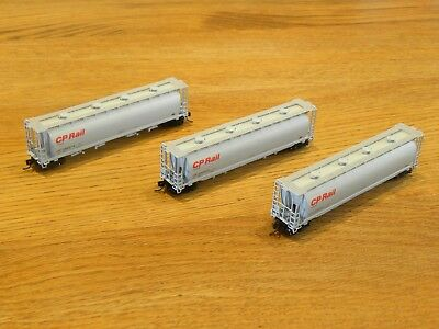 N Scale Inter Mountain Cylindrical Covered Hopper CP Rail Qty 3