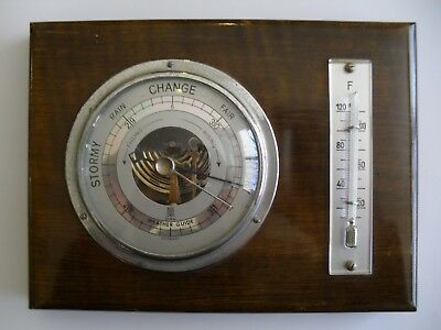 Old Gischard Germany Barometer And Fahrenheit Thermometer