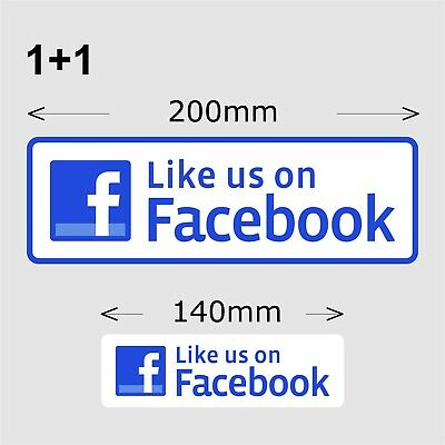 Like Us On Facebook Stickers, 200 and 140 mm wide