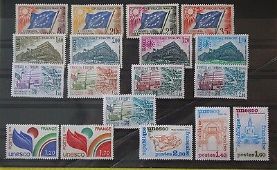 FRANCE - Council of Europe / Unesco  mint selection MNH