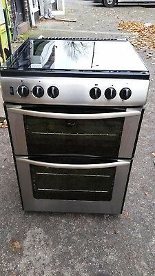 BELLING G741 60cm FULL GAS COOKER DOUBLE OVEN -STAINLESS STEEL