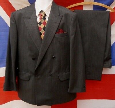 """1940's wartime style vintage Double Breasted Spiv Suit  40"""" chest,, 36"""" waist"""
