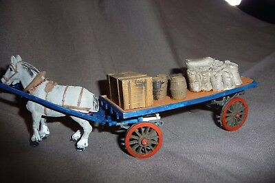 """7mm """"0"""" gauge Slaters Horse drawn Dray Cart"""