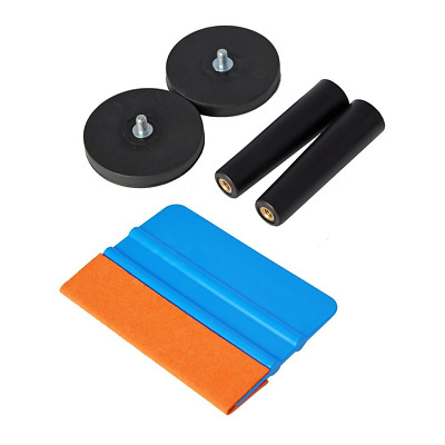 Ehdis® Car Vinyl Wrapping Tool Kits Suede Felt Squeegee, Magnet Holder for Film