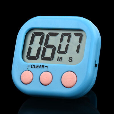 Digital Timer Reminder Alarm LCD Cooking Clock Kitchen Large Count-Down Up Loud