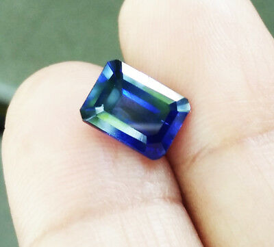 2.35cts.8x6mm.Octagon Blue Sapphire Excellent Cut Lab Corundum Gems AAA+