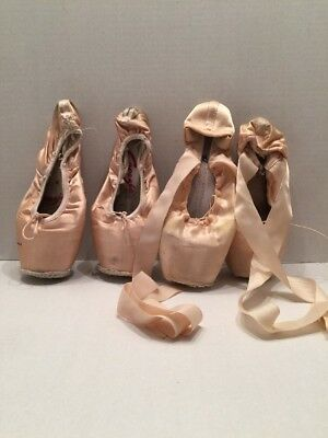 Dead Pink Ballet Point Shoes - Ballerina Decoration/art Craft Only - 4 Misc Size