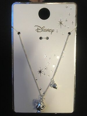 BNWT Rare Disney Beauty And The Beast Necklace. Silver. Chip And Mrs Potts.