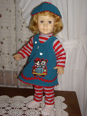 """OOAK 5pc outfit by Gloria's Goodies fits Chatty Cathy """"Minnie loves Mickey"""""""