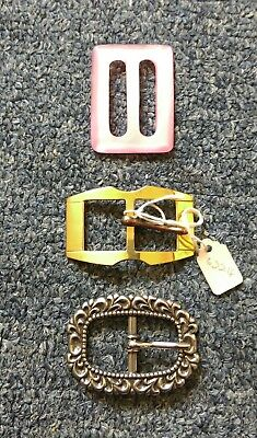 Set of 3 vintage? buckles