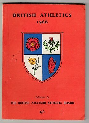 1966  BRITISH ATHLETICS by The National Union of Track Statisticians.