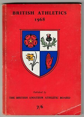 1968 BRITISH ATHLETICS by The National Union of Track Statisticians.