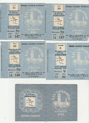 1948 Olympic Games ATHLETICS. Four Tickets and Folder.