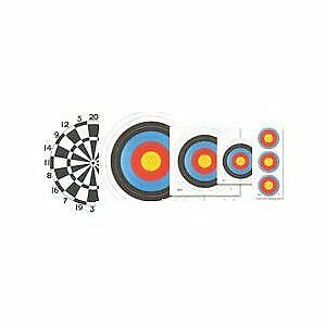 ARCHERY TARGET FACES ASSORTITI CONFEZIONE 1 ORA CON 12 FACCE Archery World Sport