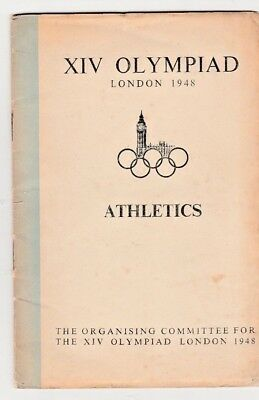 1948 Olympic Games ATHLETICS General Rules Booklet. Organising Committee