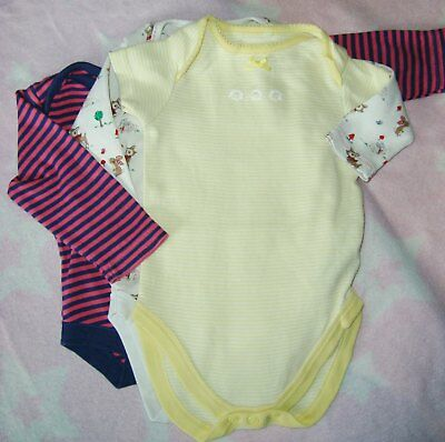 Baby girls bodysuits x 3 3-6 months 'used'