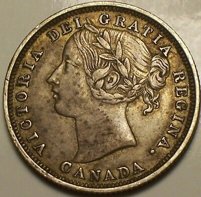 Canada, 1858 Victoria Re-engraved 5, 20 Cents, Twenty Cents.