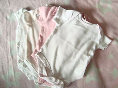 Baby girls bodysuits x 4 0-3 months 'used'