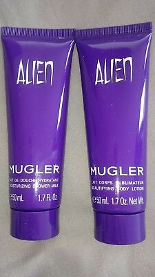 thierry mugler alien 50ml shower gel and 50ml body lotion BN