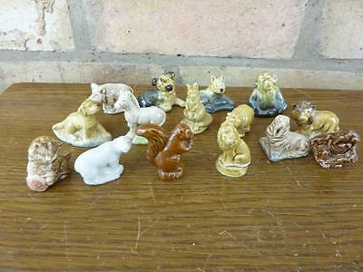 A Nice set of 15 Vintage Wade Whimsies Dog Hippo Lion Etc. #7