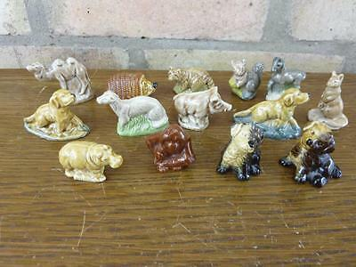 A Nice set of 14 Vintage Wade Whimsies Dog Hippo Camel Etc. #9