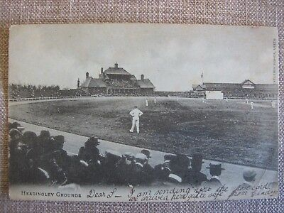 Very early old Cricket postcard HEADINGLEY GROUND Yorks Yorkshire