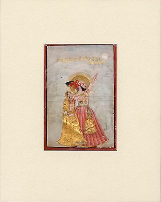 Fine quality Indian Miniature 1700's, Maharana and consort