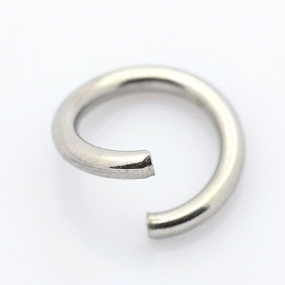 Stainless Steel Jump Rings 6 mm x 1 mm | 304 Grade |Thick Strong Jump Rings 0299